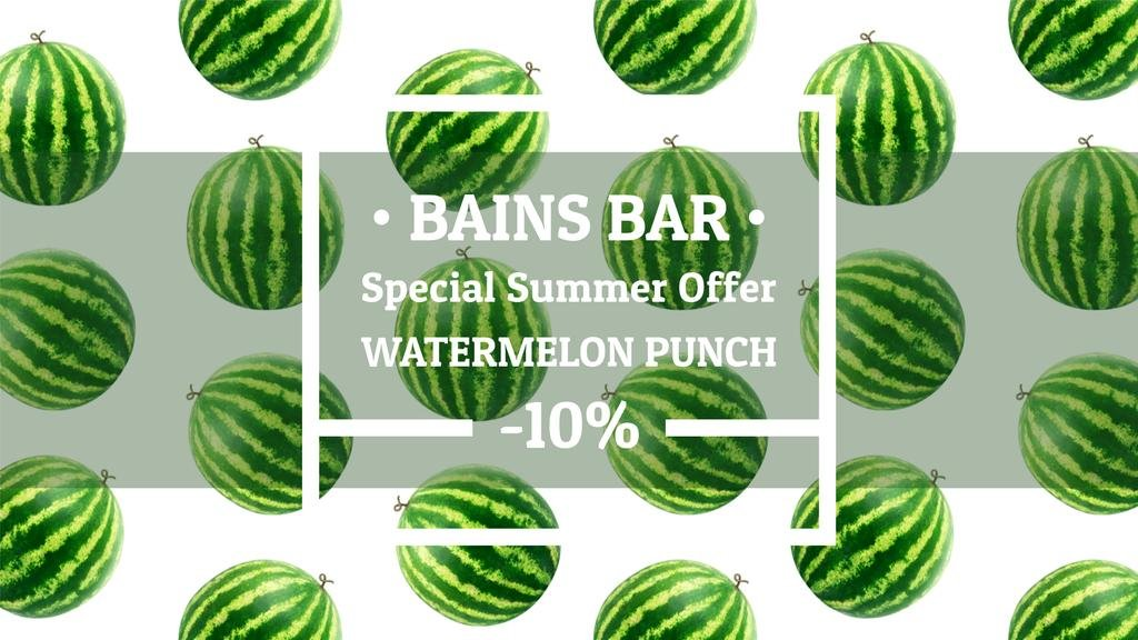 Summer Offer Rotating Raw Watermelons | Full Hd Video Template — Створити дизайн