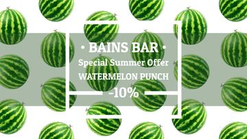 Summer Offer Rotating Raw Watermelons