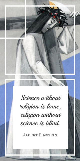 Religious Quote with Christian Cross Graphic Modelo de Design