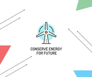 Conserve Energy Wind Turbine Icon | Facebook Post Template