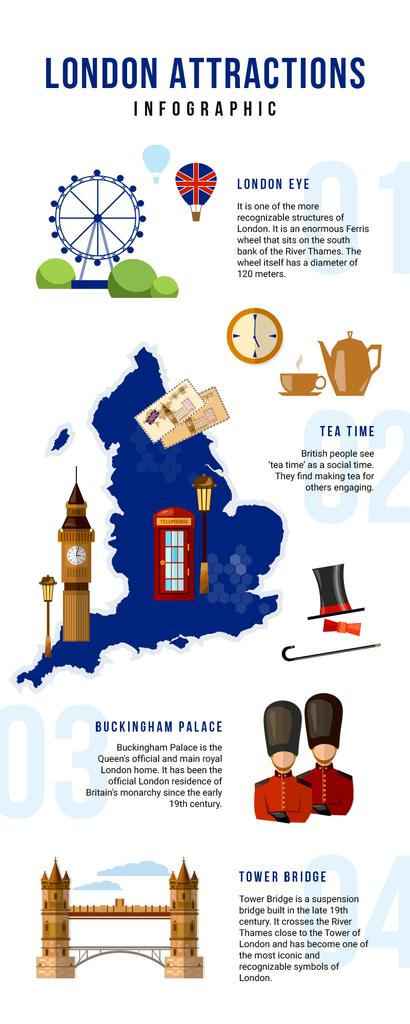 Informational infographics aboun London Attractions — Maak een ontwerp