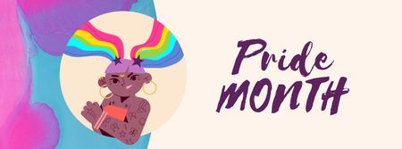 Modèle de visuel Confident lgbt girl on Pride Month - Facebook Video cover