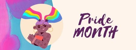 Designvorlage Confident lgbt girl on Pride Month für Facebook Video cover