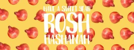 Ontwerpsjabloon van Facebook Video cover van Rosh Hashanah template with rotating pomegranates