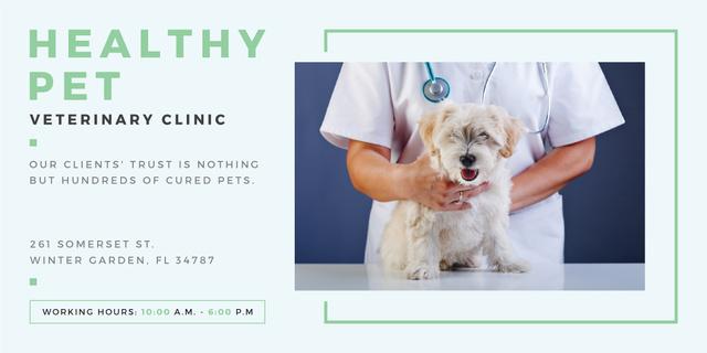 Plantilla de diseño de Healthy pet veterinary clinic Image