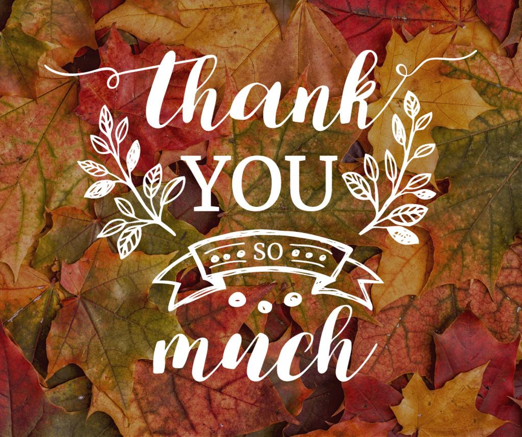 Thanksgiving Day autumn leaves — Créer un visuel