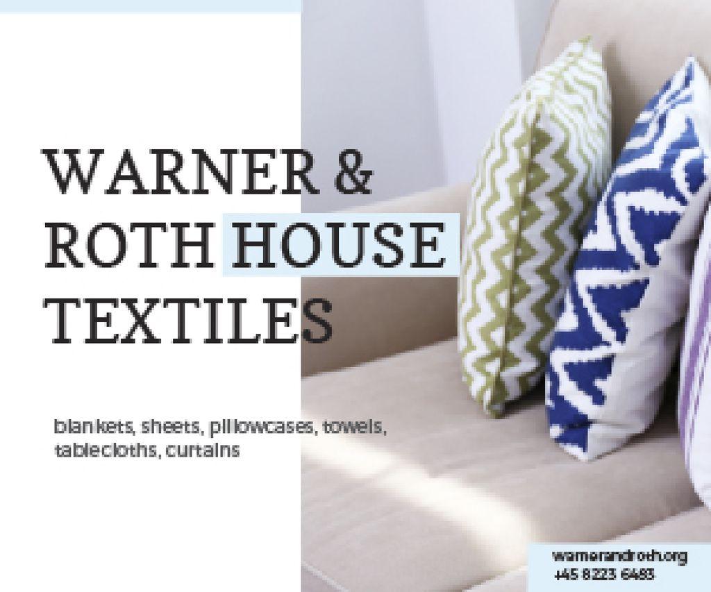 Plantilla de diseño de Warner & Roth House Textiles Medium Rectangle