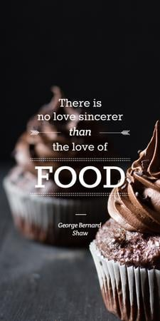 Template di design Delicious chocolate Cupcakes with quote Graphic