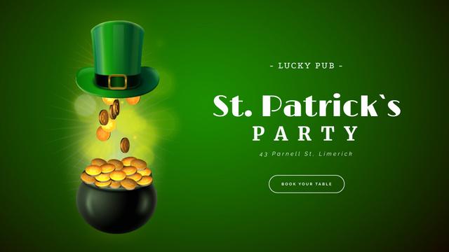 Saint Patrick's Day celebration attributes Full HD video Modelo de Design