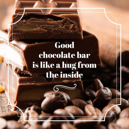 Chocolate pieces and cocoa beans Instagram AD – шаблон для дизайна