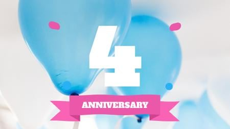 Plantilla de diseño de Anniversary celebration template Full HD video