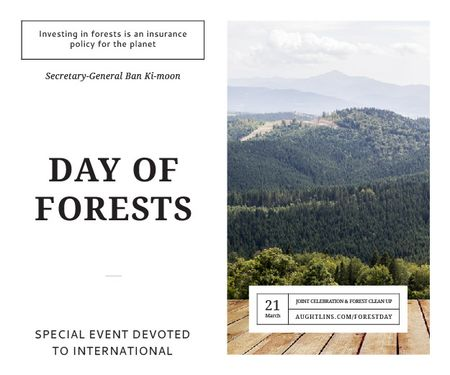 Onternational day of forests Medium Rectangle Design Template