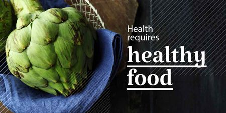 Plantilla de diseño de Health requires healthy food poster   Image