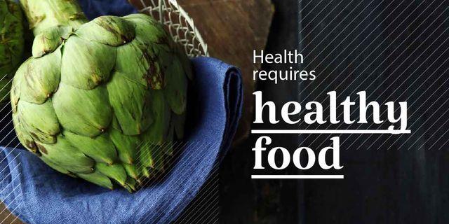 Modèle de visuel Health requires healthy food poster   - Image