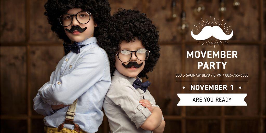 Boys with mustache and beard masks — Crear un diseño