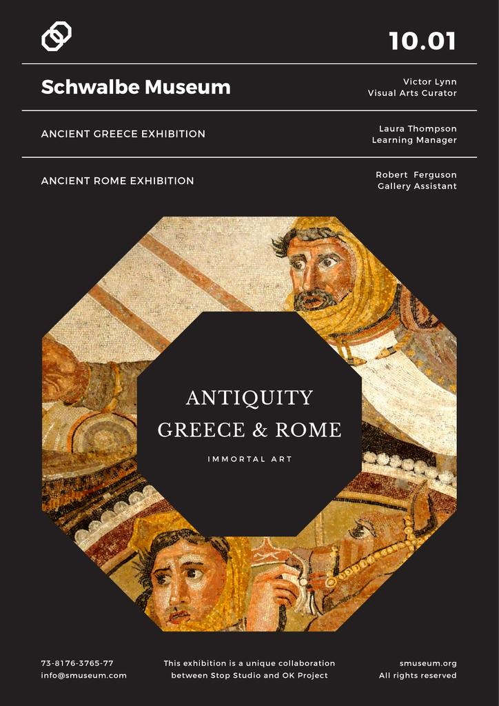 Ancient Greece and Rome exhibition — Crear un diseño