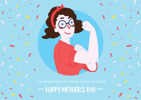 Plantilla de diseño de Happy Mother's Day postcard Postcard