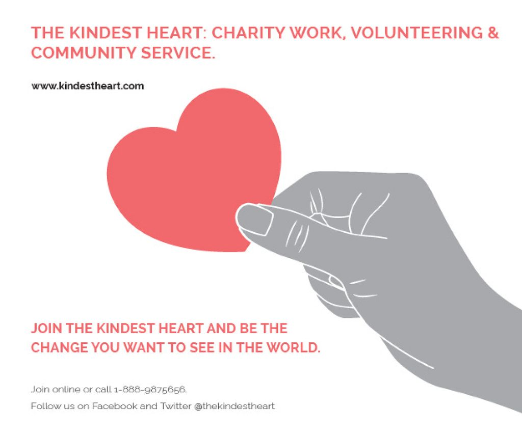 The Kindest Heart: Charity Work — ein Design erstellen