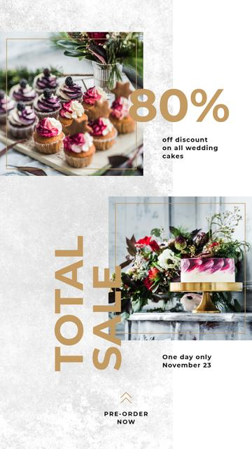 Delicious desserts assortment Instagram Story Modelo de Design
