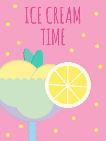 Template di design Sweet ice cream in glass Poster US