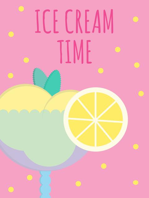 Sweet ice cream ad Poster US Design Template