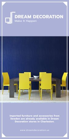 Design Studio Ad Kitchen Table in Yellow and Blue Graphic Modelo de Design