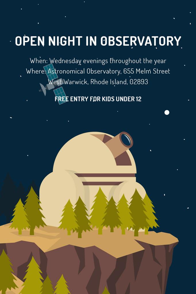 Open night in Observatory event — Crear un diseño