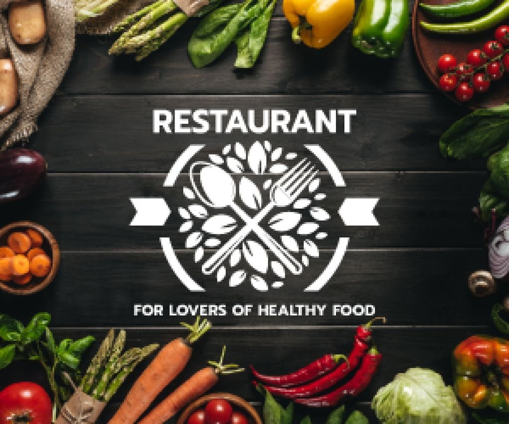 restaurant for lovers of healthy food poster — Создать дизайн