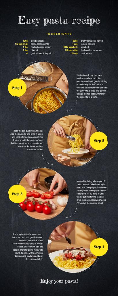 Food Infographics How to cook pasta — Modelo de projeto