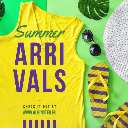 Ontwerpsjabloon van Instagram van Yellow summer clothes Offer