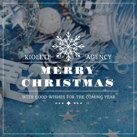Merry Christmas Greeting with Festive Decoration Instagram Modelo de Design