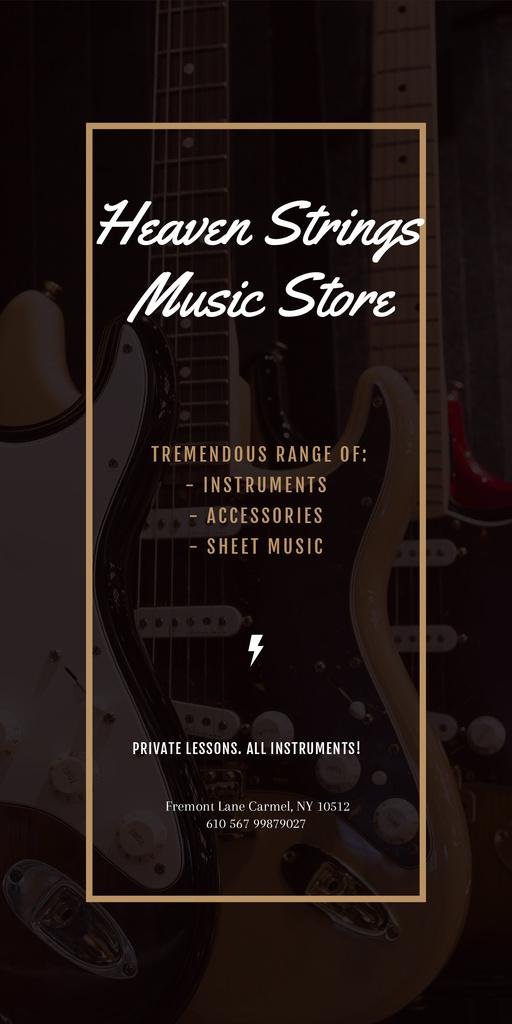 Heaven Strings Music Store — Maak een ontwerp