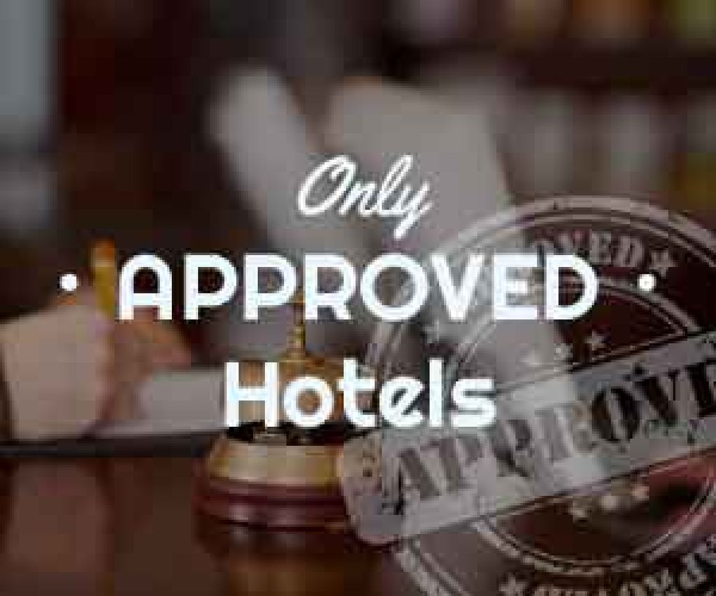 Hotels Guide Bell at Reception Desk | Medium Rectangle Template — Створити дизайн