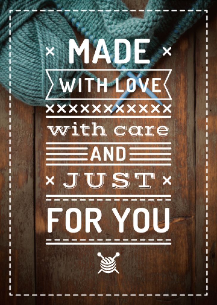 Handmade Goods Quote Knitted Piece | Flyer Template — Створити дизайн