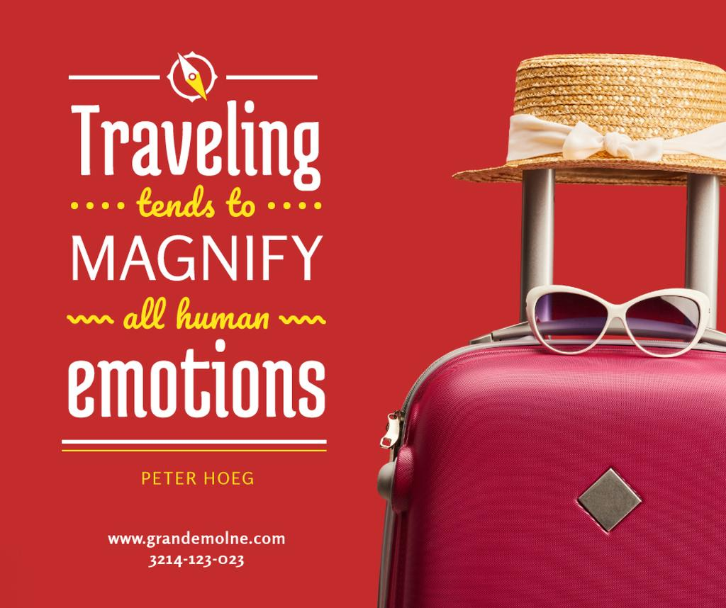 Travelling Inspiration Suitcase and Hat in Red — Create a Design
