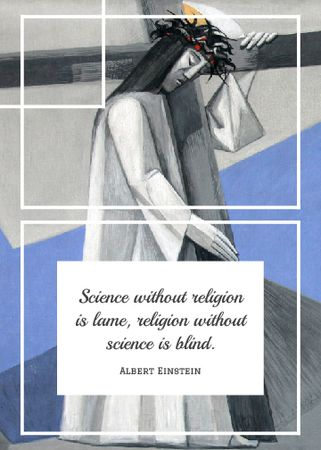 Plantilla de diseño de Religion Quote with Christian Cross Flayer