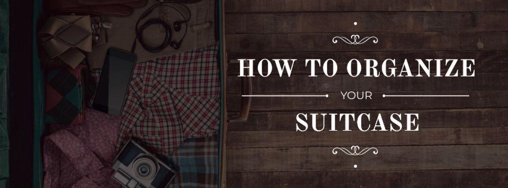 Ontwerpsjabloon van Facebook cover van Tips How to organize suitcase