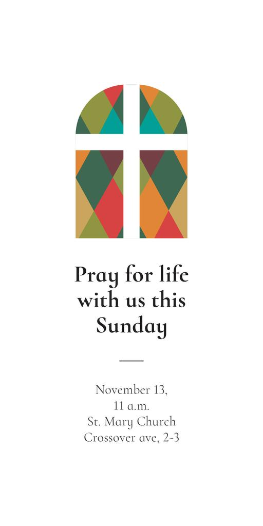 Pray for life with us this Sunday — Maak een ontwerp