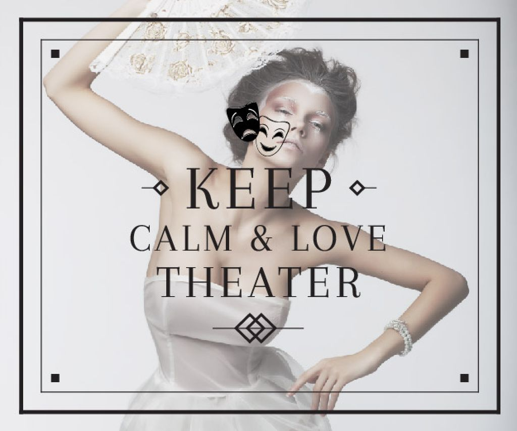 Citation about love to theater — Modelo de projeto