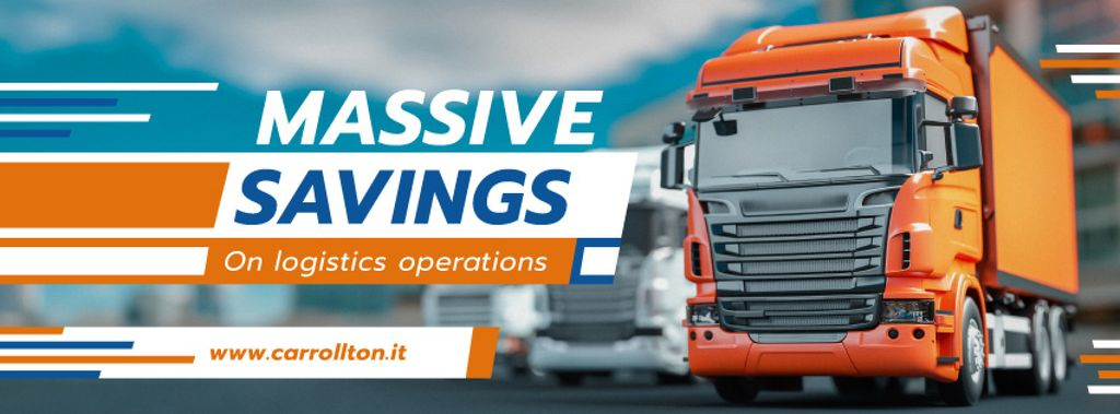 Delivery Offer with Large Trucks on Road — Создать дизайн