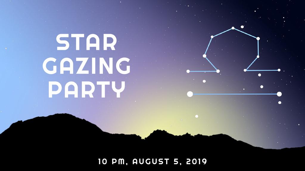 Night sky with Libra constellation — Create a Design