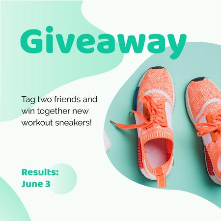 Plantilla de diseño de Workout Sneakers Giveaway Offer Instagram