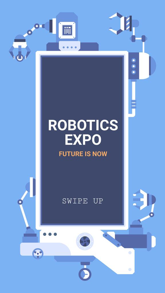 Robotics Exhibition Ad Automated Production Line — Crear un diseño