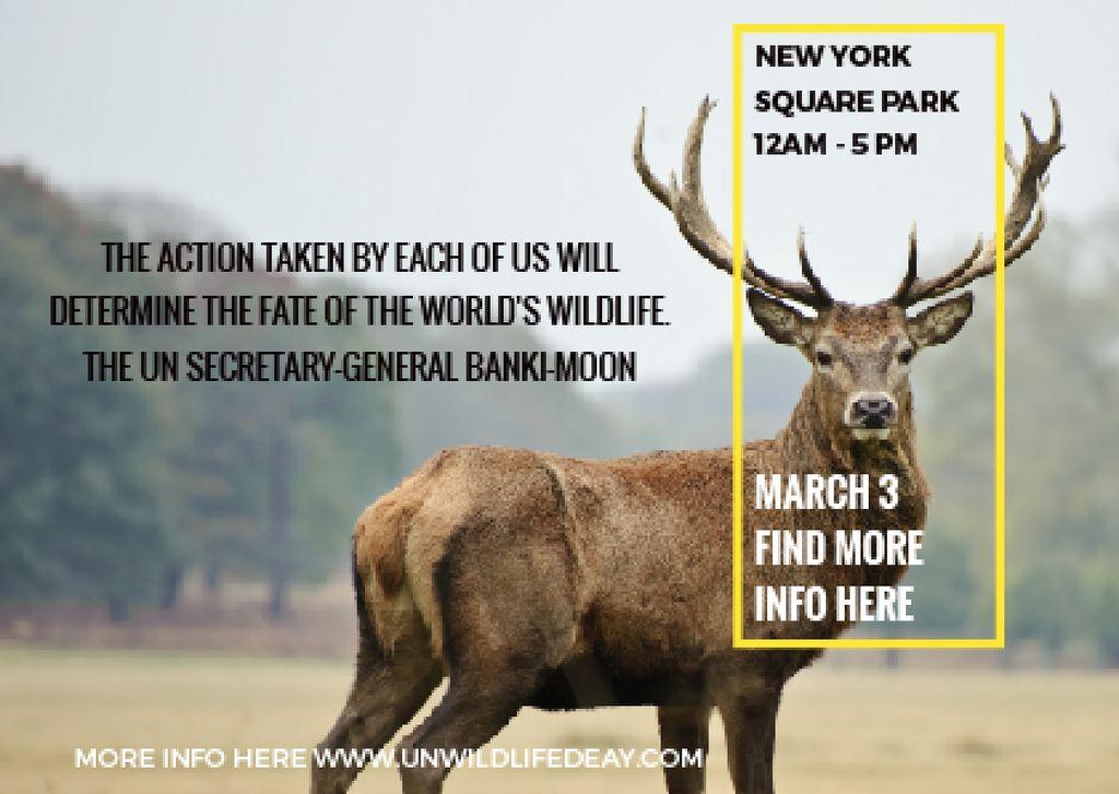 Eco Event announcement with Wild Deer — Crear un diseño