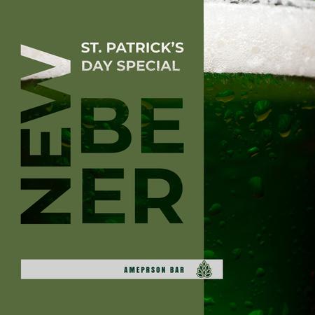 Ontwerpsjabloon van Instagram van New Beer Saint Patrick's Day Special Ad