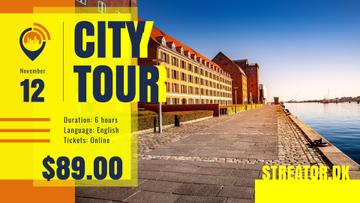 City Tour Ad Quay View | Facebook Event Cover Template