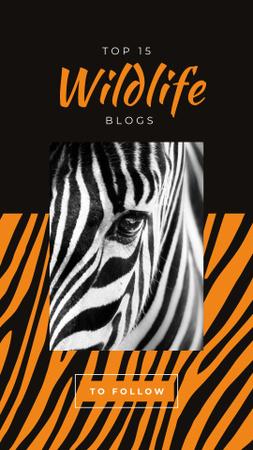 Wild zebra animal Instagram Story Tasarım Şablonu