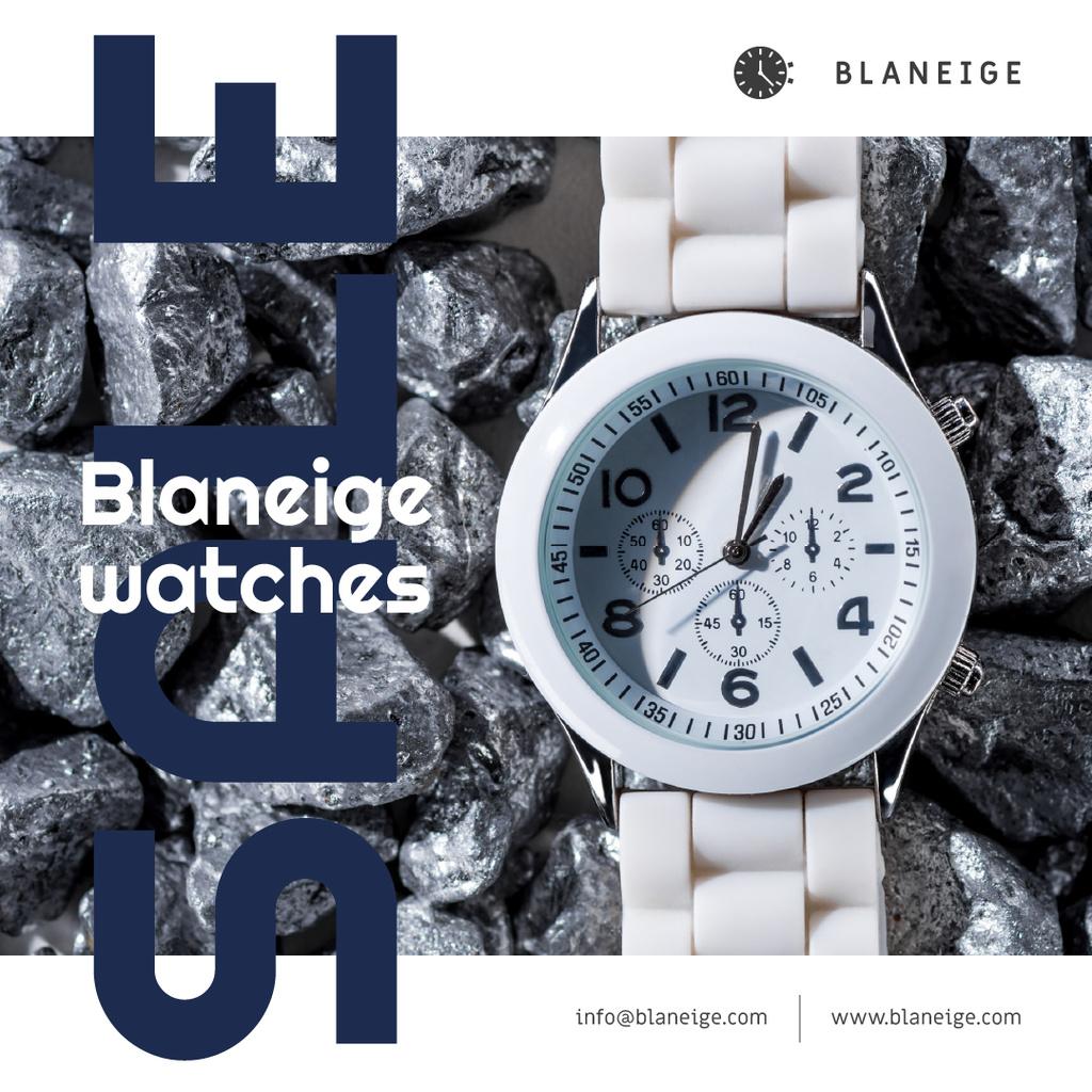 Accessories Sale with White Watch — ein Design erstellen
