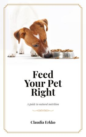 Plantilla de diseño de Jack Russell Dog Eating Its Food Book Cover