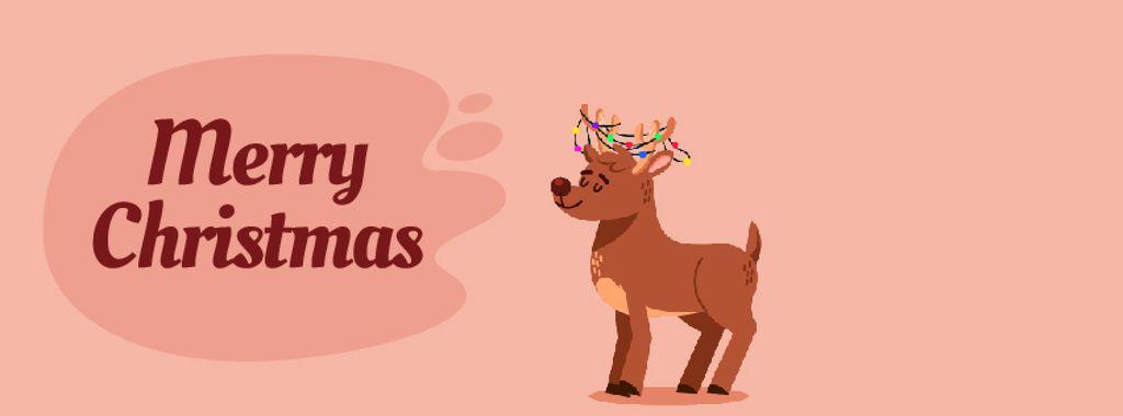 Jumping happy Christmas deer — Створити дизайн